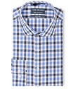Euro Tailored Fit Shirt Navy Tonal Large Check