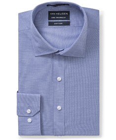 Euro Tailored Fit Shirt Navy End of End