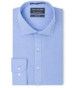 Euro Tailored Fit Shirt Classic Blue Micro Check