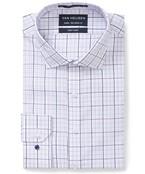 Euro Tailored Fit Shirt White Large Pastel Checks