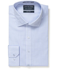 Euro Tailored Fit Shirt Blue Rectangle Dobby