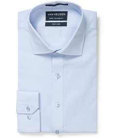 Euro Tailored Fit Shirt Blue Oxford