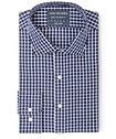 Euro Tailored Fit Shirt Indigo Medium Window Check