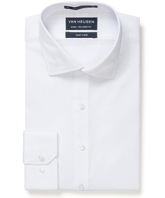 Euro Tailored Fit Shirt White Dobby