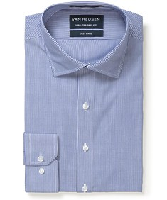 Euro Tailored Fit Shirt Blue Vertical Stripe