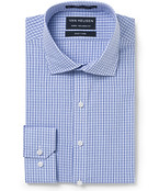 Men's Euro Fit Shirt Blue on Blue Check