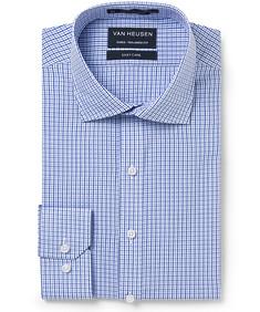 Men's Euro Fit Shirt Blue on Blue Check