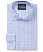 Euro Tailored Fit Shirt Classic Blue Window Check