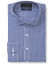 Euro Tailored Fit Shirt Navy White Medium Checks