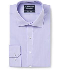 Men's Euro Fit Shirt Lilac Mini Stripe