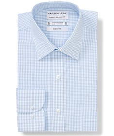 Classic Relaxed Fit Shirt Sky Blue Gingham