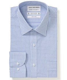 Classic Relaxed Fit Shirt Blue Tonal Checks