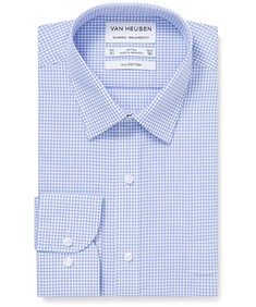 Classic Relaxed Fit Shirt Blue Gingham