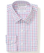 Classic Relaxed Fit Shirt Blue Red Large Check