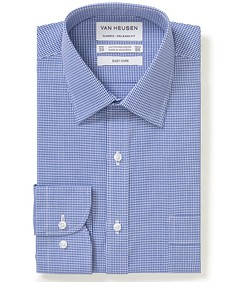 Classic Relaxed Fit Shirt Navy Gingham