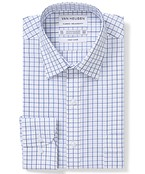 Classic Relaxed Fit Shirt Navy Tones Outline Check