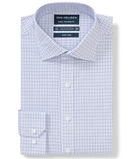 Euro Tailored Fit Shirt Blues Check