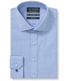 Euro Tailored Fit Shirt Blue Mini Houndstooth