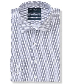 Euro Tailored Fit Shirt Geometric Circle Print