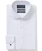 Euro Tailored Fit Shirt White Dot Print