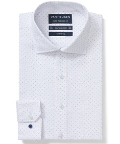 Euro Tailored Fit Shirt White Dot Print