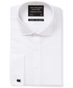 Black Label Euro Tailored Fit Shirt White Poplin