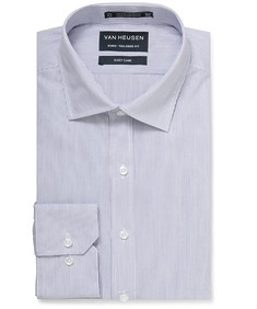 Euro Tailored Shirt Classic Blue Vertical Stripe