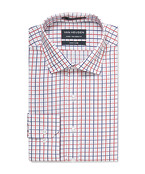 Euro Tailored Shirt Red and Ink Window Check