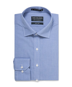 Euro Tailored Shirt Blue Houndstooth