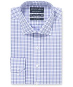 Euro Tailored Fit Shirt Lilac Purple Large Check
