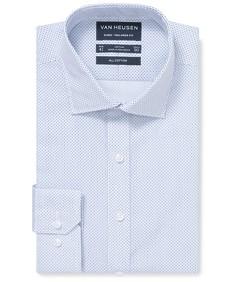 Euro Tailored Fit Shirt Blue Fleck Print