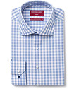 Slim Fit Shirt Blue and White Check