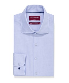 Slim Fit Shirt Blue Dobby Nailhead Print