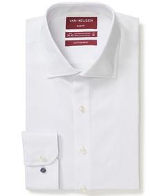 Slim Fit Shirt White Dobby Dot Texture