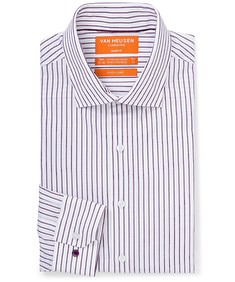 Slim Fit Shirt Grape Vertical Stripes