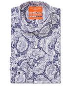 Slim Fit Shirt Indigo Paisley Print