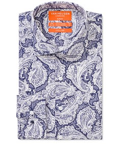 Slim Fit Shirt Indigo Paisley Print