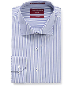 Men's Slim Fit Shirt Cobalt Stripe