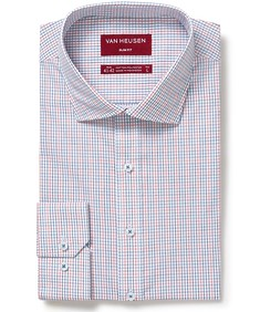 Slim Fit Shirt Red Blue Small Window Check