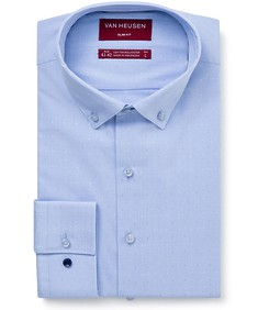 Men's Slim Fit Shirt Light Blue Mini Check
