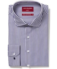Men's Slim Fit Shirt Indigo Stripe