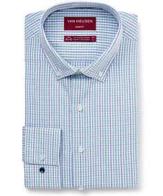 Men's Slim Fit Shirt Mint Navy Check