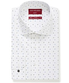 Slim Fit Shirt White Triangle Print