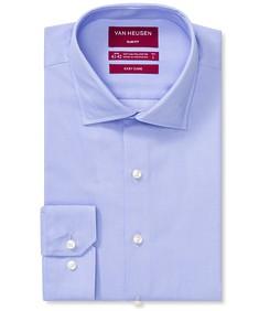 Slim Fit Shirt Blue Dobby Dot Print