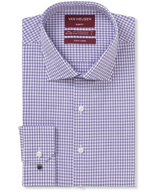 Slim Fit Shirt Gingham Poplin