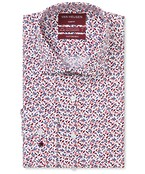 Slim Fit Shirt Red Florals