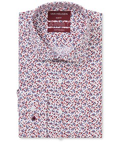 Slim Fit Shirt Red Florals