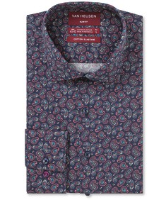 Slim Fit Shirt Indigo Rouge Paisley