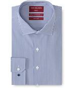 Slim Fit Shirt Navy Poplin Vertical Stripe