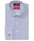 Slim Fit Shirt Indigo Geometric Print